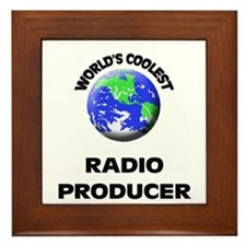 World's Coolest Radio Producer Framed Tile