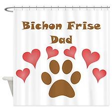 Bichon Frise Dad Shower Curtain