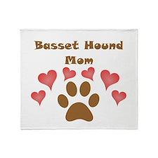 Basset Hound Mom Throw Blanket