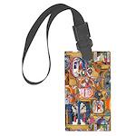 Medieval Illuminations Luggage Tag