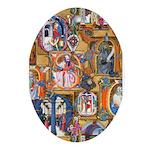 Medieval Illuminations Ornament (Oval)