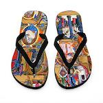 Medieval Illuminations Flip Flops