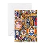 Medieval Illuminations Greeting Cards (Pk of 20)