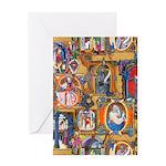 Medieval Illuminations Greeting Card