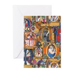 Medieval Illuminations Greeting Cards (Pk of 10)