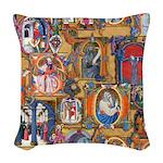 Medieval Illuminations Woven Throw Pillow