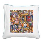 Medieval Illuminations Square Canvas Pillow