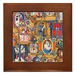 Medieval Illuminations Framed Tile