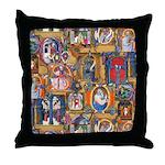 Medieval Illuminations Throw Pillow