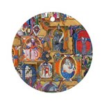 Medieval Illuminations Ornament (Round)