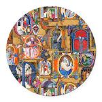 Medieval Illuminations Round Car Magnet