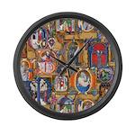 Medieval Illuminations Large Wall Clock