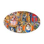 Medieval Illuminations Oval Car Magnet