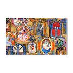 Medieval Illuminations Car Magnet 20 x 12