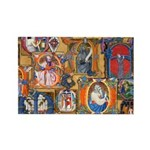 Medieval Illuminations Rectangle Magnet (100 pack)