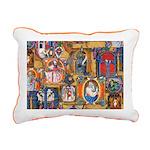 Medieval Illuminations Rectangular Canvas Pillow