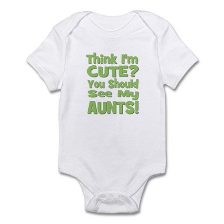 Think I'm Cute? AuntS! (PLURA Infant Bodysuit