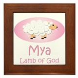 Lamb of God - Mya Framed Tile