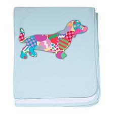 Skittles the Dachshund baby blanket