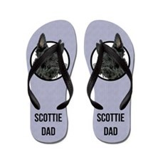 Scottish Terrier Dad Flip Flops