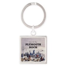 ABH Plymouth Rock Square Keychain