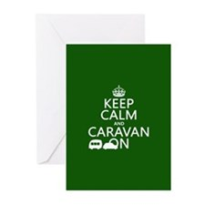 Keep Calm and Caravan On Greeting Cards (Pk of 20)