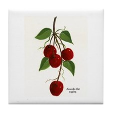 Cherry Bunch Tile Coaster