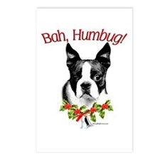 Boston Terrier Bah Humbug Postcards (Package of 8)