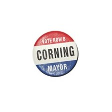 Re-Elect Mayor Corning Mini Button (10 pack)