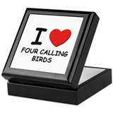 I love four calling birds Keepsake Box