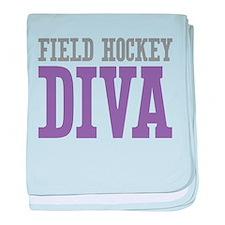 Field Hockey DIVA baby blanket