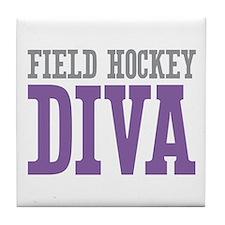 Field Hockey DIVA Tile Coaster