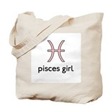Pisces Girl Tote Bag
