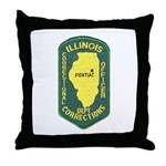 Illinois Corrections Throw Pillow