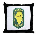 Illinois Corrections Throw Pillow