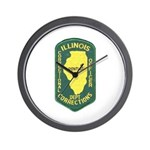 Illinois Corrections Wall Clock
