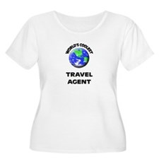World's Coolest Travel Agent Plus Size T-Shirt