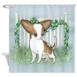 GF Chihuahua- Brown & Wht Shower Curtain