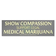 Compassion Medical Marijuana Bumper Bumper Sticker
