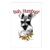 Schnauzer Bah Humbug Postcards (Package of 8)