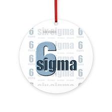 Six Sigma Ornament (Round)
