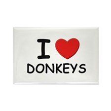 I love donkeys Rectangle Magnet