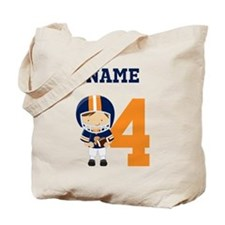 Personalized Football 4 Tote Bag