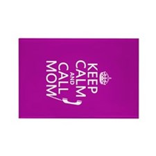 Keep Calm and Call Mom Rectangle Magnet (100 pack)