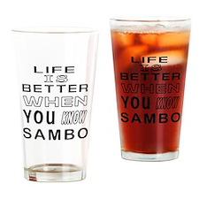 Sambo Martial Arts Designs Drinking Glass