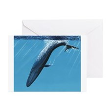 Diving Blue Greeting Cards (Pk of 10)