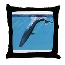 Diving Blue Throw Pillow