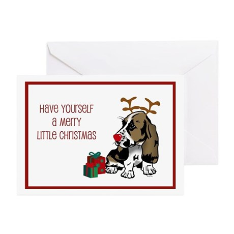Basset Hound Christmas Greeting Cards (Package of