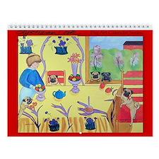 Pug Art Wall Calendar