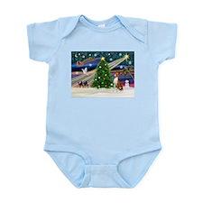 XmasMagic/Basenji #2 Infant Bodysuit
